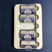 2003 - 2004 P And D Kennedy Half Dollar Rolls In Mint Wrapped Rolls. 80 Coins.