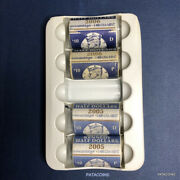2005 - 2006 P And D Kennedy Half Dollar Rolls In Mint Wrapped Rolls. 80 Coins.