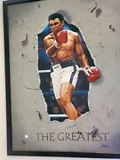 Famous Sports Artist Steve Parsons Signed Ali. Signed By Artist And Ali.awesome