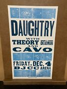Daughtry With Theory Of A Deadman Bjcc 2009 Woodblock Hatch Show Print Poster