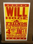 Will Hoge And Friends 12th And Porter Rare Show Poster Hatch Show Print Poster