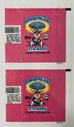 🎯1985 Garbage Pail Kids Wax Pack Wrappers [lot Of 2] Series 1 Os1 Gpk Adam Bomb
