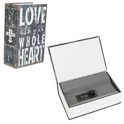 Dictionary Book Safe Storage Box For Hide Secret Valuables With Combination Lock