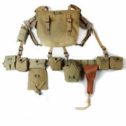 Wwii Us Carbine Pouch M1936 Bag Belt Suspenders Canteen Shovel Cover 1911 Pack