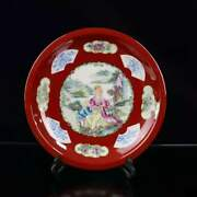 Chinese Porcelain Hand-made Exquisite Figure Plates 1902