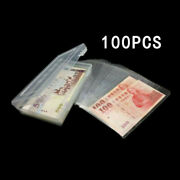 100 Paper Money Album Currency Banknote Case Storage Bag Collection And Box Holder