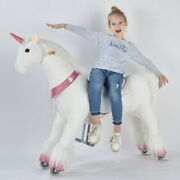 Ufree Ride On Unicorngift For Kid 6-year Old To Adults Unicorn With Pink Horn
