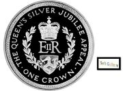 Isle Of Man 1 Crown 1977 The Queenand039s Silver Jubilee Appeal Silver Coin