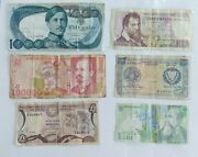 6pcs Money Paper Old Currency Lot Banknote Bill Note Foreign Banknotes Collectio