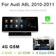 Android 10 Car Gps Navigation Head Unit Wireless Carplay For Audi A6 A6l 2010-12