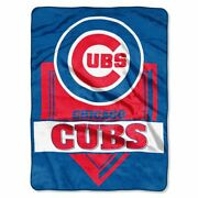 Chicago Cubs Home Plate 60 X 80 Royal Plush Blanket By Northwest