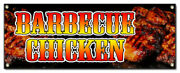 Barbecue Chicken Banner Sign Smoked Bbq Grill Fire Bar-b-que Fresh Hot