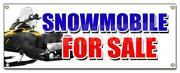 Snowmobile For Sale Banner Sign Snowmachine All Brands Financing Sale