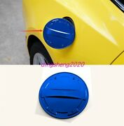 Blue Stainless Steel Car Fuel Oil Tank Gas Cap Cover For Chevrolet Camaro 16-20
