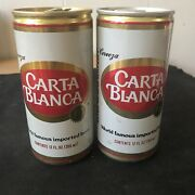 Carta Blanca Beer Cans Lot Of 2 Different Rare Cans 12oz