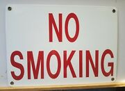 New Old Stock Vintage No Smoking Porcelain Sign Excellent Condition 14 X 10