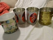 Vintage 50s Lot Of 4 Special Edition Coffee Cans For Repurpose Butternut