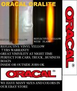 24 X 150 Ft Yellow Reflective Vinyl Adhesive Usa Oracal Oralite Priority Mail