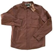 Loro Piana Brown Shirt Jacket Wind Stretch Size Large Made In Italy