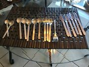 24 Pcs Total Airline Cutlery 16 Pc Set Of Eva Air Stainless Steel Flatware