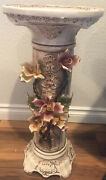 23 1/2h 10andrdquow Vintage Capodimonte Pedestal Italy-new Plant Or Statuette Stand