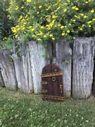 Large Fairy Garden Gnome Door 14 Inches Tall, And 2 Windows, Tree Yard Decor New
