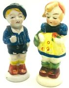 Hummel Like Boy And Girl Salt And Pepper Shakers Made In Occupied Japan