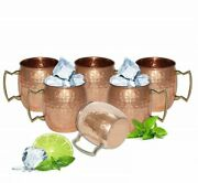 Vintage Absolut Vodka Moscow Mule Mugs Set Of 6 100 Pure Copper Mugs 12 Oz Cups