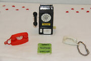 Vintage Tammy Doll Telephones B-pay Phone,w-princess,r-trimline And Directory 60's