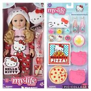 Nib Bundle My Life As 18 Poseable Hello Kitty Doll And Accessories Set New In Box