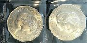 1981 Australia, Charles And Di Commemorative 50 Cents Uncirculated X 2 Coins