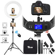 18 Led Ring Light Kit With Stand Dimmable 6000k For Makeup Phone Camera Youtube