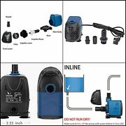 Uniclife 320-1000 Gph Submersible/inline Water Pump For Pond Pool Fountain