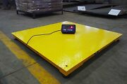 Heavy Duty 5and039 X 5and039 Industrial Floor Scale / Pallet Size 10000 X 1 Lb New