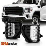 For 2019-2020 Gmc Sierra 1500 Denali Crew Cab Full Led Fog Lights Pair W/ Switch