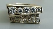 14k Yellow Gold And Diamond Abstract Ring Sz.6.75 Lab Report 4500.00