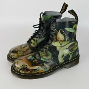 Rare Dr Doc Martens Pascal Hell Boots Hieronymus Menand039s Size Us 10 Euc