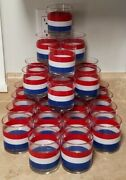 29 Vintage Georges Briard Red White And Blue Striped Rocks Classes.