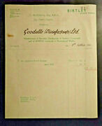 Durham 1950 Billhead Goodalls Birtley Disinfectant Insecticide Sanitary Compound