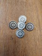 Lot Of 5, 18th/19th Century Pewter Button, Rev War, Colonial