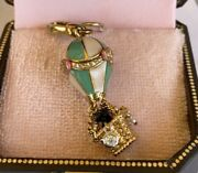 Nwob Juicy Couture Hot Air Balloon Scottie Dog Charm