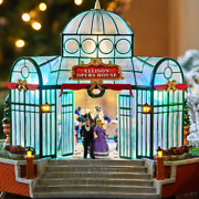 Led Christmas Village Opera House - Lighted, Animated And Plays Music - 11h X10w