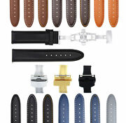 18-24mm Smooth Leather Watch Band Strap For Seiko Sarb017 Sndc33 Ssc081