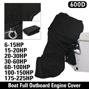 600d Heavy Duty Boat Full Outboard Engine Motor Cover Fit For 6-225hp Usa