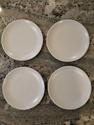 Set Of 4 Kenneth Cole React Chic Er By The Dozen Replacement White Dinner Plates