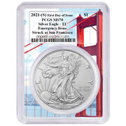 2021 S 1 American Silver Eagle Pcgs Ms70 Emergency Issue Fdoi Golden Gate Fra