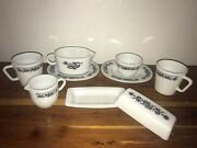 Lot Of 9 Piece Corning Ware Pyrex Old Town Blue Onion Milk Glass