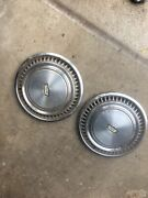 Two Vintage 1970's Chevrolet Chevy Caprice 15 Inch Hubcap Wheel Covers