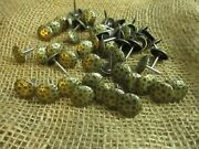 50 Clavos Decorative Nail Heads Rustic Antique Brass .75 Tacks Crafts Clavo