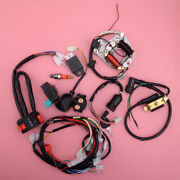 Cdi Wire Harness Stator Wiring Kit Fit For 50cc -110cc Atv Electric Start Quads